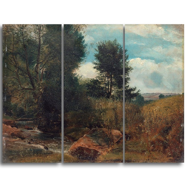 Design Art 'Lionel Constable - View on the River Sid near Sidmouth' Canvas Art Print
