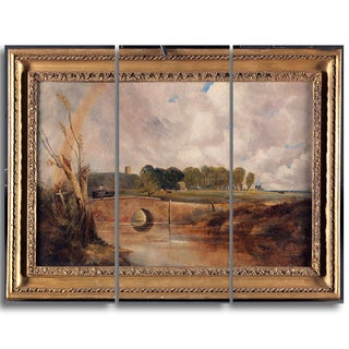 Design Art 'Lionel Constable - A Rainbow View of the Stour' Canvas Art Print