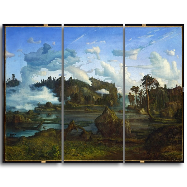 Design Art 'Lars Hertervig - The Tarn' Canvas Art Print