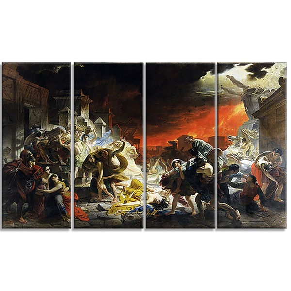 Design Art 'Karl Brullov - The Last Day of Pompeii' Canvas Art Print