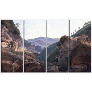 Design Art 'Joseph Remond - Mountain Landscape with Road to Naples' Canvas Art Print