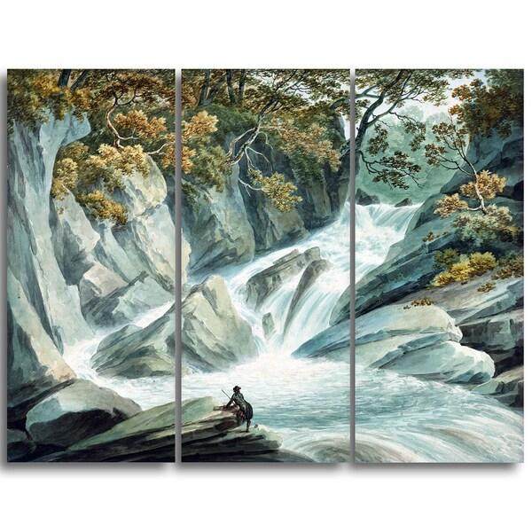 Design Art 'John Warwick Smith - Hafod Upper Part of Cascade' Canvas Art Print