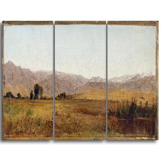 Design Art 'John Frederick Kensett - Snowy Range and Foothills' Canvas Art Print