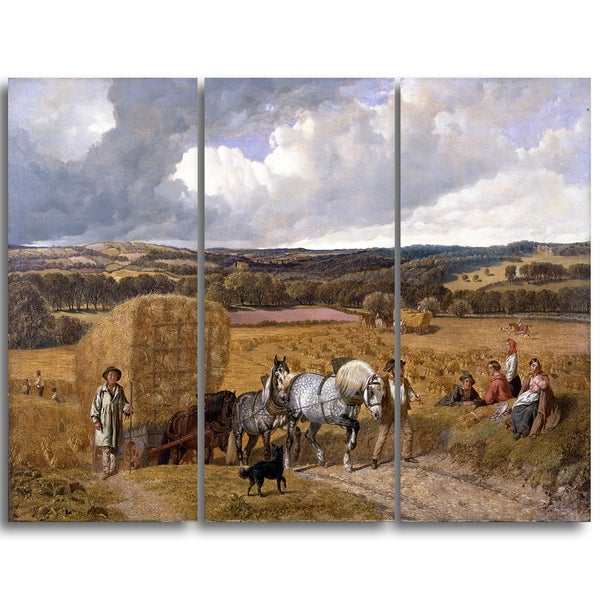 Design Art 'John Frederick Herring - The Harvest' Canvas Art Print