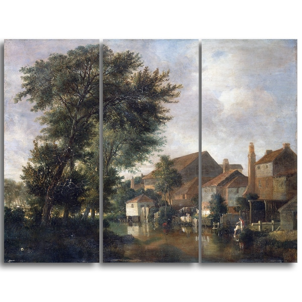 Design Art 'John Crome - The River Wensum, Norwich' Canvas Art Print