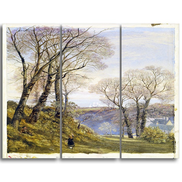 Design Art 'John Brett - February in the Isle of Wight' Canvas Art Print