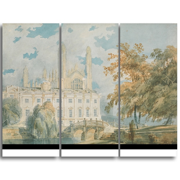 Design Art 'JMW Turner - Clare Hall and King's College Chapel' Canvas Art Print