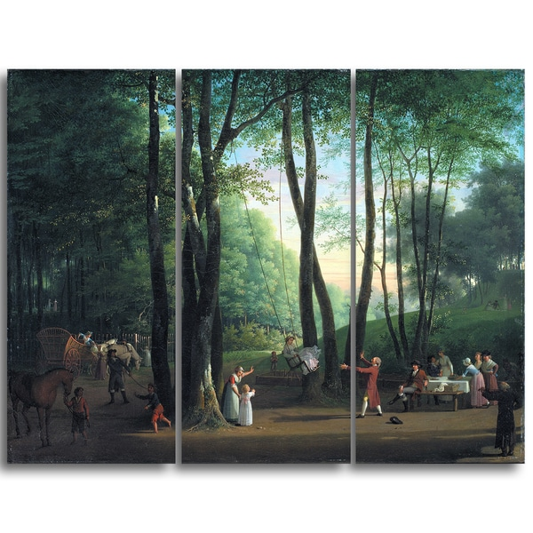 Design Art 'Jens Juel - The Dancing Glade at Sorgenfri' Canvas Art Print