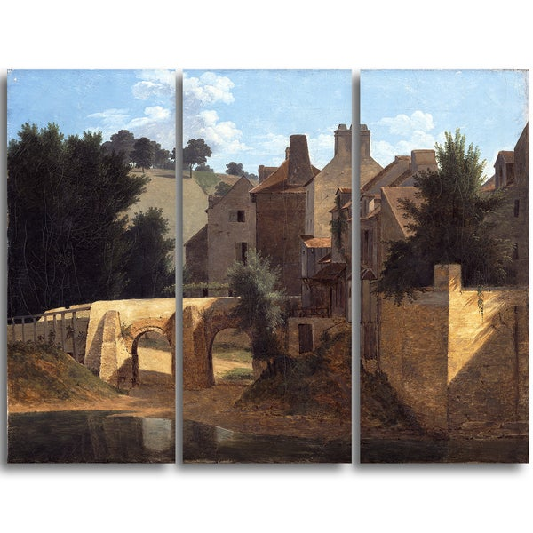Design Art 'Jean-Victor Bertin - View in the Ile-de-France' Canvas Art Print