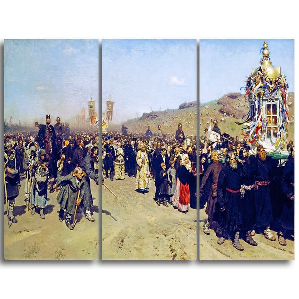 Design Art 'Ilya Repin - Religious Procession in Kursk Gubernia' Lansdcape Artwork