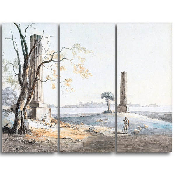 Design Art 'Henry Tresham - Remains of the Temple' Lansdcape Artwork