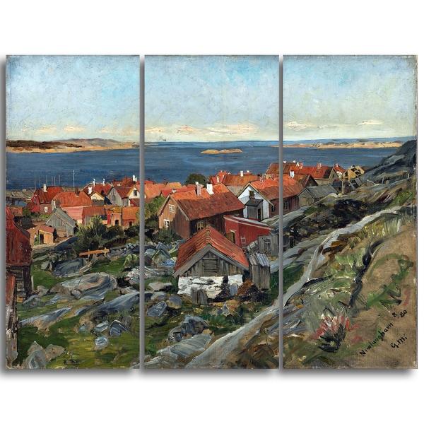 Design Art 'Gerhard Munthe - View of Nevlunghavn' Landscape Wall Art