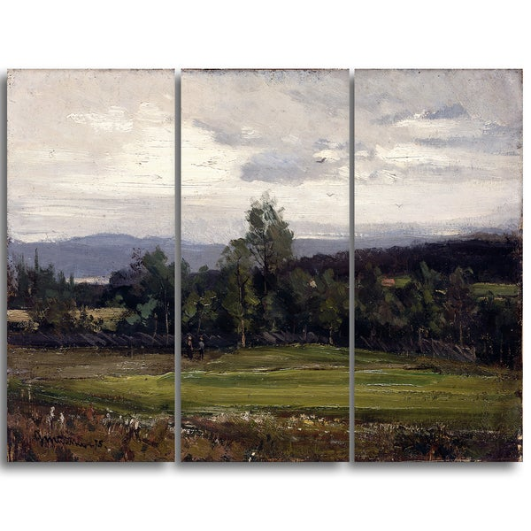Design Art 'Gerhard Munthe - Fields at Hedmark in Summer' Landscape Wall Art