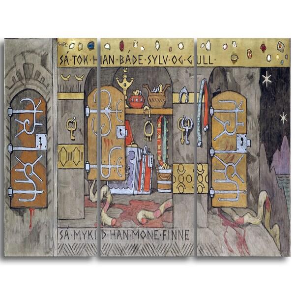 Design Art 'Gerhard Munthe - Asmund Bringing Home Silver and Gold' Large Landscape Canvas Wall Art