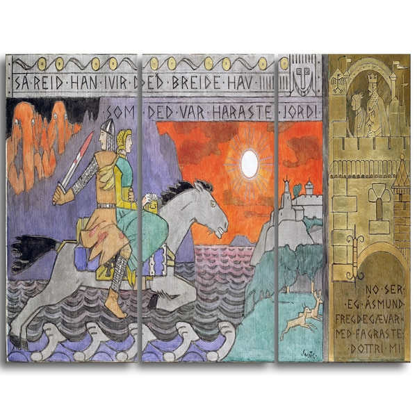 Design Art 'Gerhard Munthe - Asmund and the Princess Riding Home' Landscape Canvas Wall Art