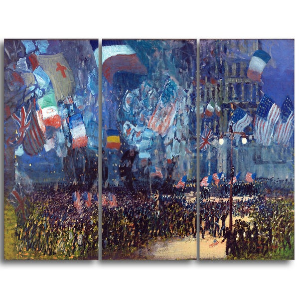 Design Art 'George Luks - Armistice Night' Landscape Canvas Art Print