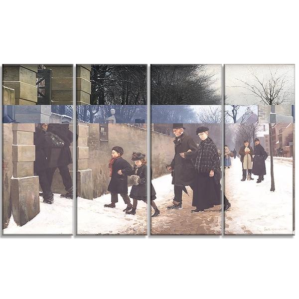 Design Art 'Frants Henningsen - A Funeral' Landscape Canvas Art Print