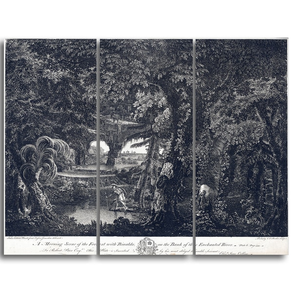 Design Art 'Edward Rooker - A Morning Scene of the Forest' Landscape Canvas Art Print