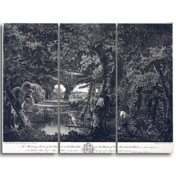 Design Art 'Edward Rooker - A Morning Scene of the Forest' Landscape Canvas Art Print