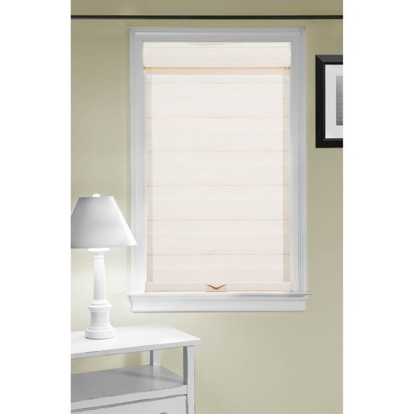 Cordless Celestial Sheer Double Layered White Shade