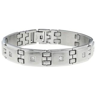 Men's Stainless Steel Cubic Zirconia Bracelet