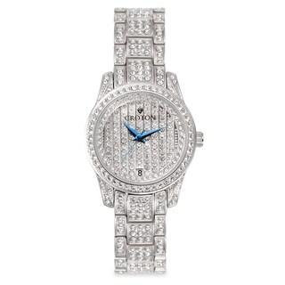 Croton Women's CN207543RHPV Stainless Steel Silvertone Austrian Crystal Watch