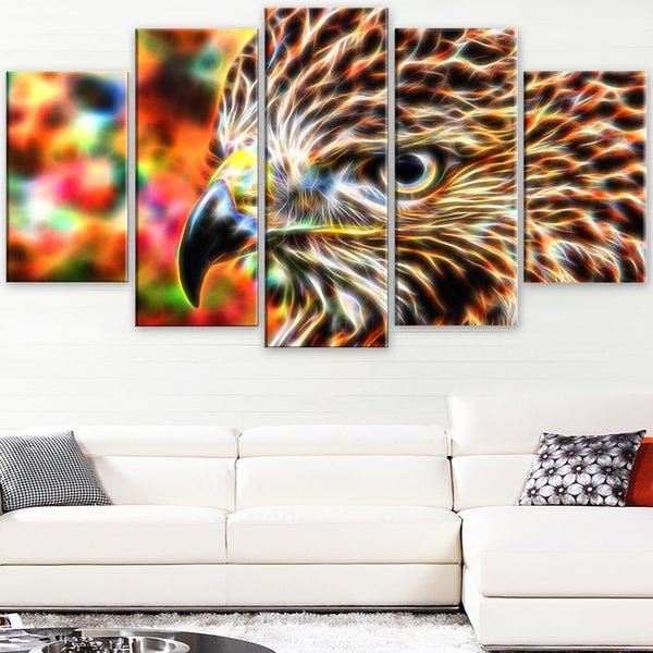 Design Art 'Vibrant Eagle' Large Animal Canvas Artwork 16436520