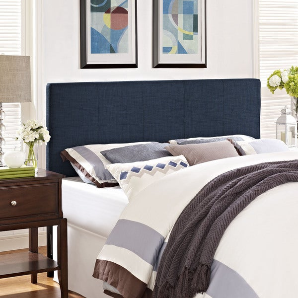 Modway Oliver Fabric Headboard in Navy