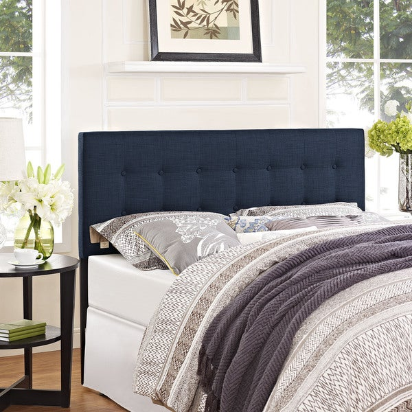 Modway Lily Fabric Headboard In Navy Free Shipping Today Overstock