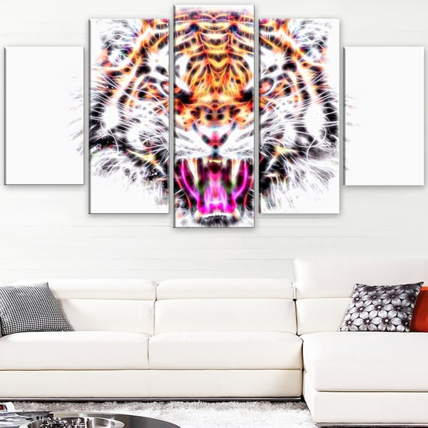 Design Art 'Ferocious Feline' Large Animal Canvas Artwork