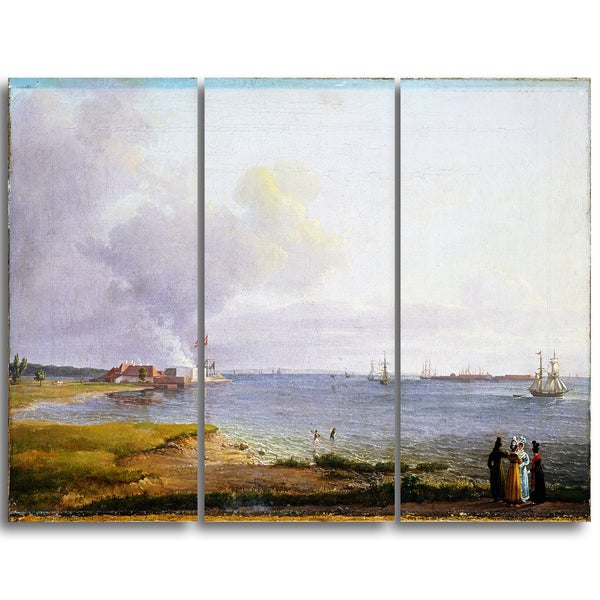 Design Art 'JC Dahl - View Over Oresund Near the Lime Works' Sea & Shore Canvas Art Print