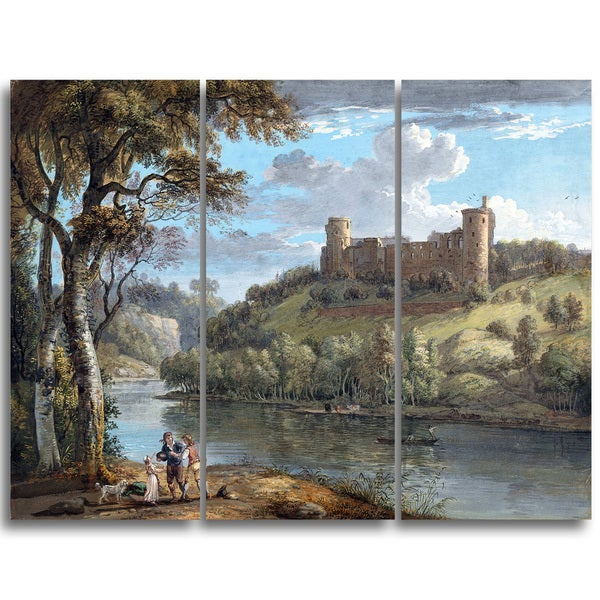 Design Art 'Paul Sandby - Bothwell Castle from the South' Sea & Shore Canvas Artwork