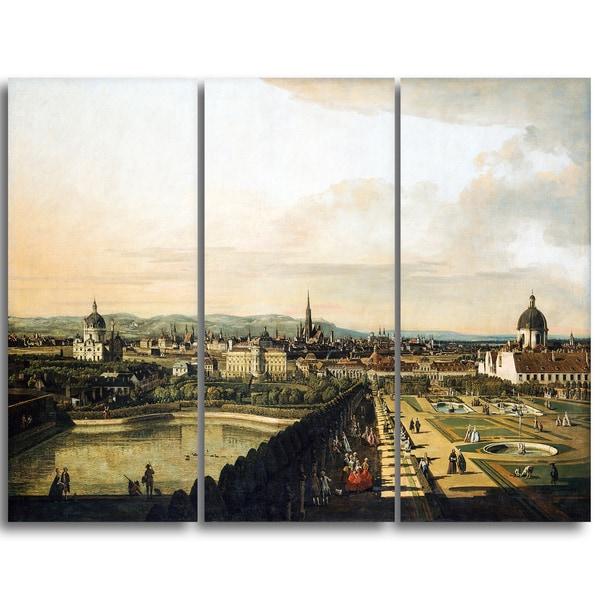 Design Art 'Bernardo Bellotto - Vienna View from Belvedere Palace' Master Piece Landscape Artwork