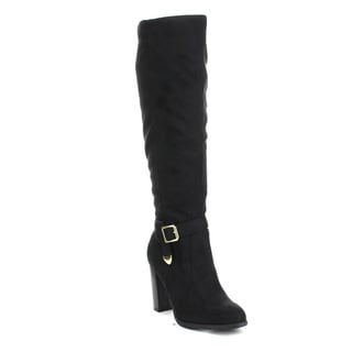 Beston Jacob-02 Women's Chic Knee-high Side Zipper Strap Riding Boots