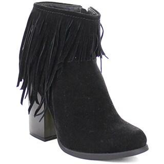 Beston Joseph-03 Women's Chic Side Zipper Fringe Ankle Booties