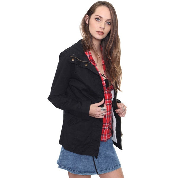 Beston Junior's Black Grungy Military Jacket