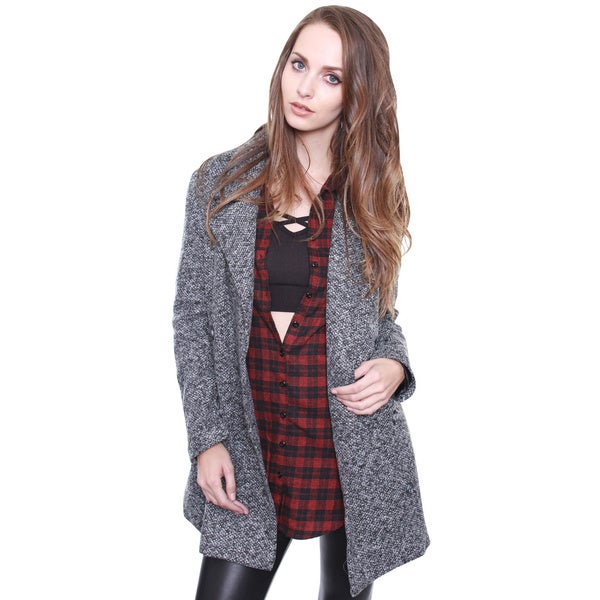 Beston Junior's Contemporary Grey Oversized Blazer Coat