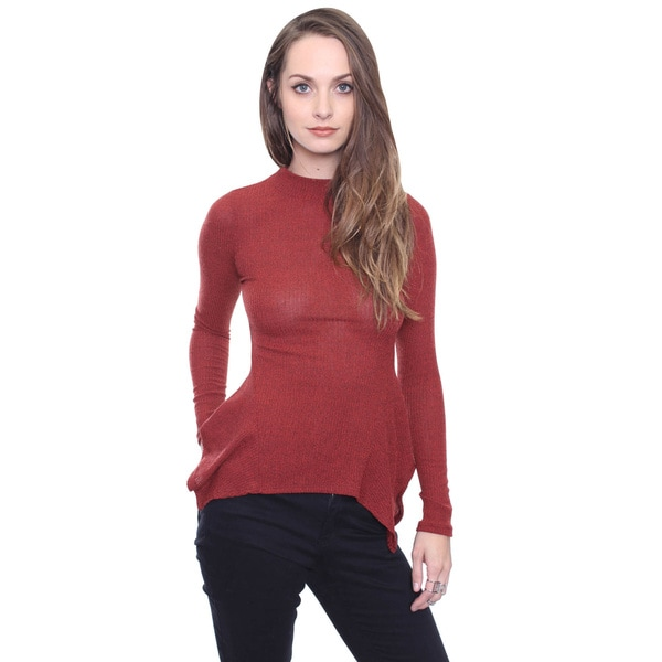 Beston Junior's Rust Mock Neck Tunic Top