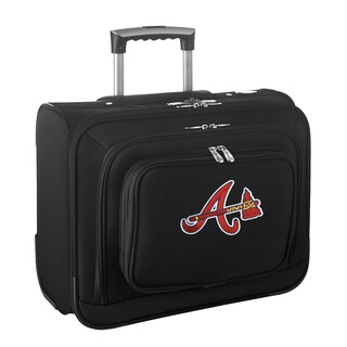 Denco Sports Legacy MLB Atlanta Braves Carry On 14-inch Laptop Rolling Overnight Tote