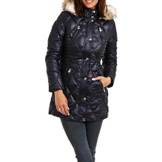 Women's Laundry By Design Blue Quilted Parka