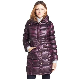 Michael Kors Women's Grape Down Gathered Waist Puffer Coat