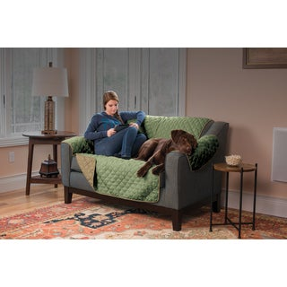 Home Fashion Designs Hawthorne Collection Ultra Plush Reversible Love Seat Protector