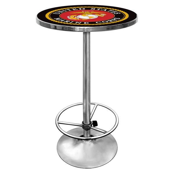 United States Marine Corps Chrome Pub Table