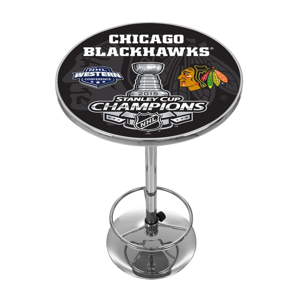 Chicago Blackhawks Chrome Pub Table - 2015 Stanley Cup Champs 16438061
