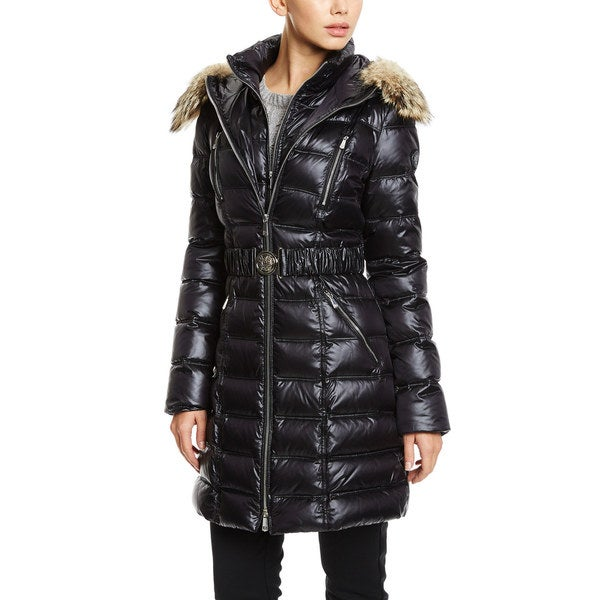 DL2 by Dawn Levy Women's 'Alicia' Black Down Puffer Coat