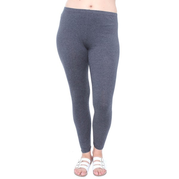 Junior's Plus Size Charcoal Basic Leggings