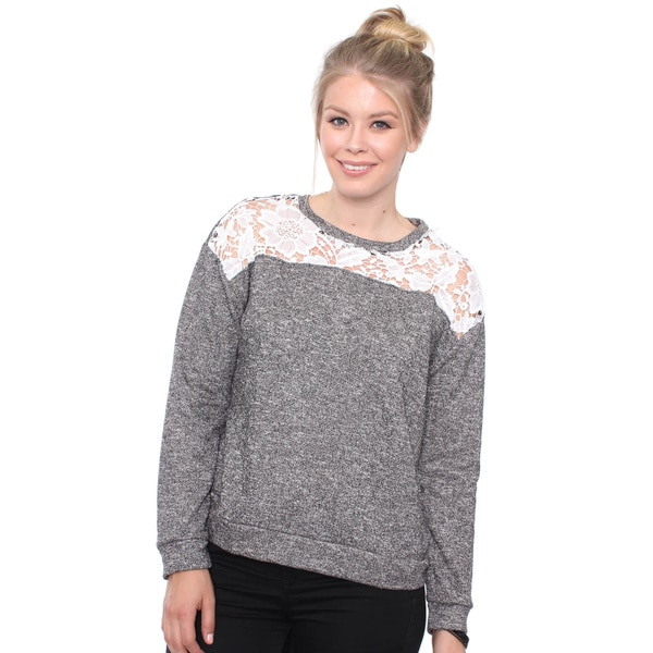 Plus Size Casual Chic French Terry Sweater
