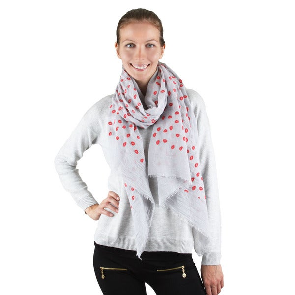 Embossed Lip Design Scarf