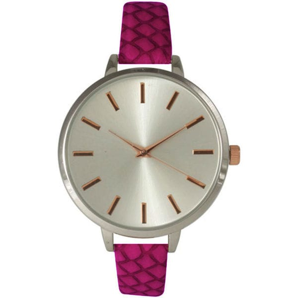 Olivia Pratt Women's Skinny Etched Strap Watch