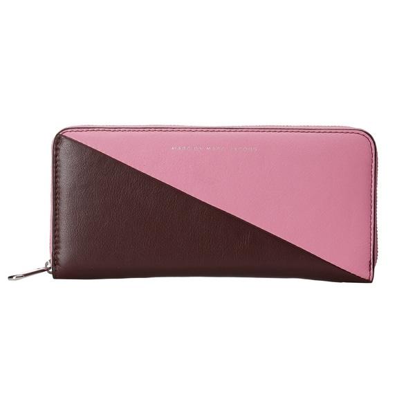 Marc by Marc Jacobs Sophisticato Sliced Pink Bubblegum Multi Slim Zip Around Wallet